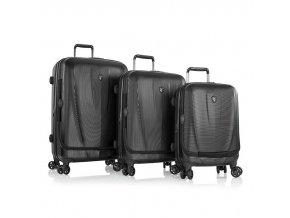 Heys Vantage Smart Luggage S,M,L Black – sada 3 kufrů  + PowerBanka nebo pouzdro zdarma