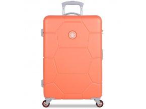 Cestovní kufr SUITSUIT® TR-1246/3-M ABS Caretta Melon  + PowerBanka nebo pouzdro zdarma