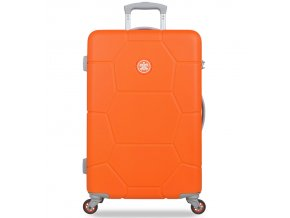 Cestovní kufr SUITSUIT® TR-1249/3-M ABS Caretta Vibrant Orange  + PowerBanka nebo pouzdro zdarma