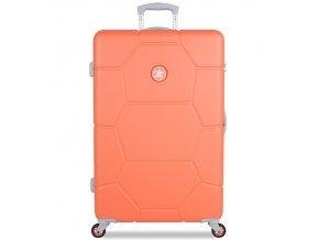 Cestovní kufr SUITSUIT® TR-1246/3-L ABS Caretta Melon  + PowerBanka nebo pouzdro zdarma