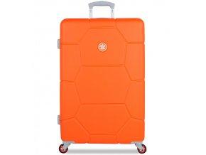 Cestovní kufr SUITSUIT® TR-1249/3-L ABS Caretta Vibrant Orange  + PowerBanka nebo pouzdro zdarma