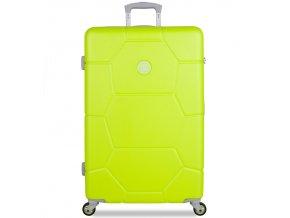 Cestovní kufr SUITSUIT® TR-1252/3-L ABS Caretta Sparkling Yellow  + PowerBanka nebo pouzdro zdarma