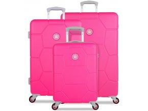 Sada cestovních kufrů SUITSUIT® TR-1248/3 ABS Caretta Hot Pink  + PowerBanka nebo pouzdro zdarma