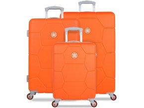 Sada cestovních kufrů SUITSUIT® TR-1249/3 ABS Caretta Vibrant Orange  + PowerBanka nebo pouzdro zdarma
