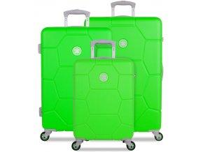 Sada cestovních kufrů SUITSUIT® TR-1251/3 ABS Caretta Active Green  + PowerBanka nebo pouzdro zdarma