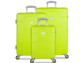 Sada cestovních kufrů SUITSUIT® TR-1252/3 ABS Caretta Sparkling Yellow  + PowerBanka nebo pouzdro zdarma