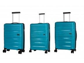 Travelite Kosmos 4w S,M,L Aqua – sada 3 kufrů