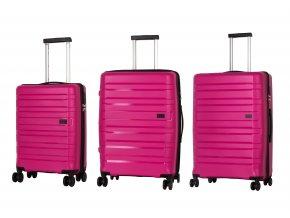 Travelite Kosmos 4w S,M,L Pink – sada 3 kufrů