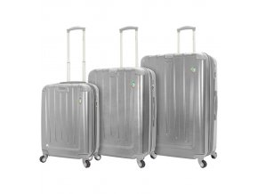 Sada cestovních kufrů MIA TORO M1324/3 - stříbrná  + PowerBanka nebo pouzdro zdarma
