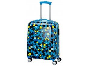 Travelite Campus Hardshell S Quadro blue