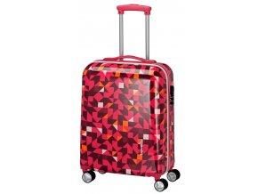 Travelite Campus Hardshell S Quadro pink