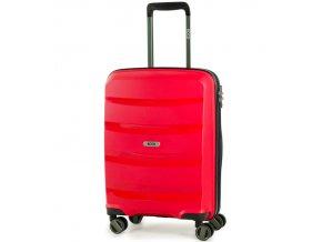 Kabinové zavazadlo ROCK TR-0174/3-S PP - červená  + PowerBanka nebo pouzdro zdarma