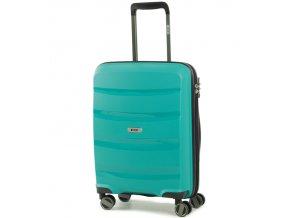 Kabinové zavazadlo ROCK TR-0174/3-S PP - zelená  + PowerBanka nebo pouzdro zdarma