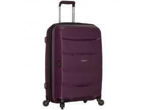 Cestovní kufr SIROCCO T-1208/3-L PP - fialová  + PowerBanka nebo pouzdro zdarma