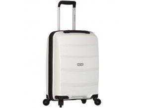 Kabinové zavazadlo SIROCCO T-1208/3-S PP - bílá  + Pouzdro zdarma