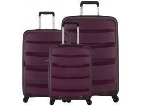 Sada cestovních kufrů SIROCCO T-1208/3 PP - fialová  + PowerBanka nebo pouzdro zdarma
