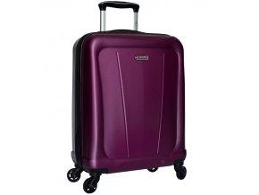 Kabinové zavazadlo SIROCCO T-1213/1-S ABS - fialová  + Pouzdro zdarma