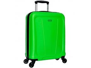 Kabinové zavazadlo SIROCCO T-1213/1-S ABS - zelená  + Pouzdro zdarma