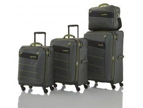 Travelite Kite 4w S,M,L Olive Green – sada 3 kufrů + BB   + PowerBanka nebo pouzdro zdarma