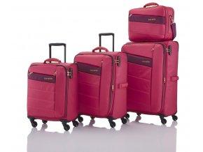 Travelite Kite 4w S,M,L Pink – sada 3 kufrů + BB  + PowerBanka nebo pouzdro zdarma