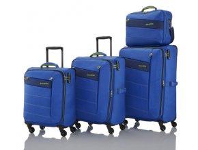 Travelite Kite 4w S,M,L Royal Blue No. 3 – sada 3 kufrů + BB   + PowerBanka nebo pouzdro zdarma
