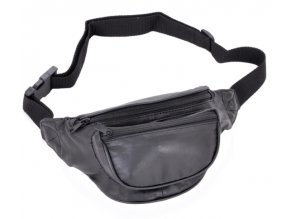 Travelite Leather Waist Bag Black