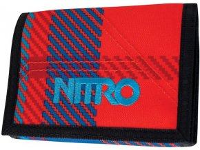 NITRO peněženka WALLET plaid red-blue