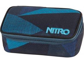 NITRO penál PENCIL CASE XL fragments blue