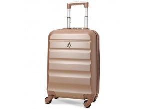 Kabinové zavazadlo AEROLITE T-322/1-S ABS - růžová  + Pouzdro zdarma