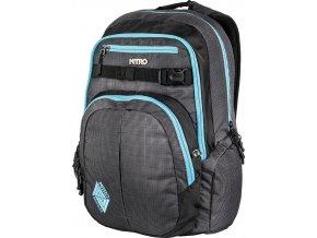 NITRO batoh CHASE blur - blue trims  + Pouzdro zdarma