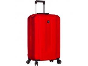 Kabinové zavazadlo SIROCCO T-1177/3-S ABS - červená  + PowerBanka nebo pouzdro zdarma
