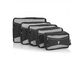 Heys Ecotex Packing Cube Set Grey – sada 5 ks