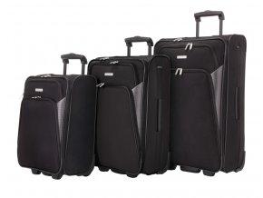 Travelite Orlando XS, S, M, L, XL – sada 5 kufrů Black  + PowerBanka nebo pouzdro zdarma