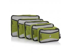 Heys Ecotex Packing Cube Set Olive – sada 5 ks