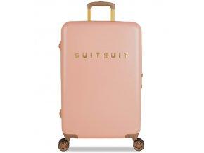Cestovní kufr SUITSUIT® TR-7101/3-M - Fab Seventies Coral Cloud  + PowerBanka nebo pouzdro zdarma
