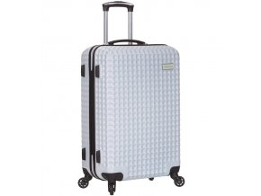 Cestovní kufr SIROCCO T-1195/3-L PC - bílá  + PowerBanka nebo pouzdro zdarma