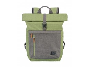 Travelite Basics Roll-up Backpack Green/Grey