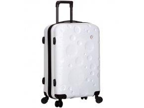 Cestovní kufr SIROCCO T-1194/3-M PC - bílá  + PowerBanka nebo pouzdro zdarma