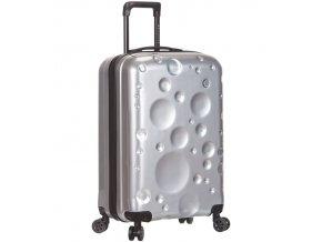 Kabinové zavazadlo SIROCCO T-1194/3-S PC - stříbrná
