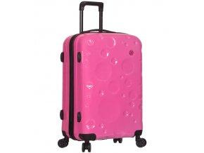 Cestovní kufr SIROCCO T-1194/3-M PC - růžová  + PowerBanka nebo pouzdro zdarma