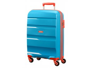 American Tourister BON AIR  SPINNER L - SKY BLUE/ORANGE