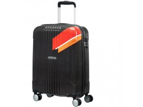 American Tourister TRACKLITE  SPINNER 78 EXP L - ORANGE STRIPES
