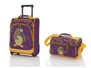 Travelite Youngster – dětská sada kufru a cestovní tašky Hedwig   + PowerBanka nebo pouzdro zdarma