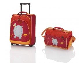 Travelite Youngster – dětská sada kufru a cestovní tašky Hippo   + PowerBanka nebo pouzdro zdarma
