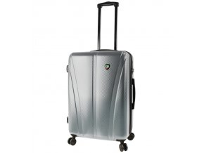 Cestovní kufr MIA TORO M1238/3-M - stříbrná  + PowerBanka nebo pouzdro zdarma
