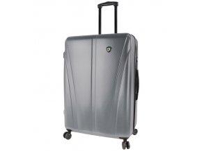 Cestovní kufr MIA TORO M1238/3-L - stříbrná  + PowerBanka nebo pouzdro zdarma