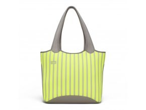 Built Everyday Shoulder Tote Neon Stripe Lime