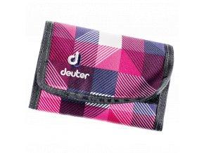 Deuter Wallet magenta arrowcheck - peněženka