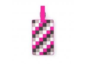 Heys Luggage Tag Pink Check