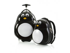 Heys Travel Tots Lightweight Kids Penguin – sada batohu a kufru  + Pouzdro zdarma